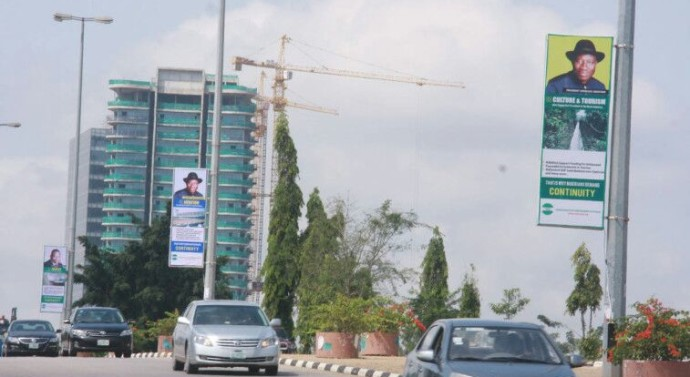 Jonathan Orders Removal of His Campaign Billboards