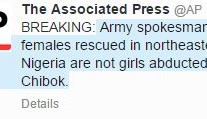 Women Rescued are not Chibok Girls- Army